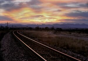 Sunset on the Tracks, Texas