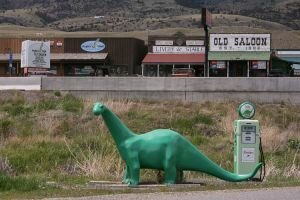 Dino in Wyoming