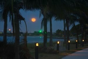 Moonset on the Jetty - Singer Island